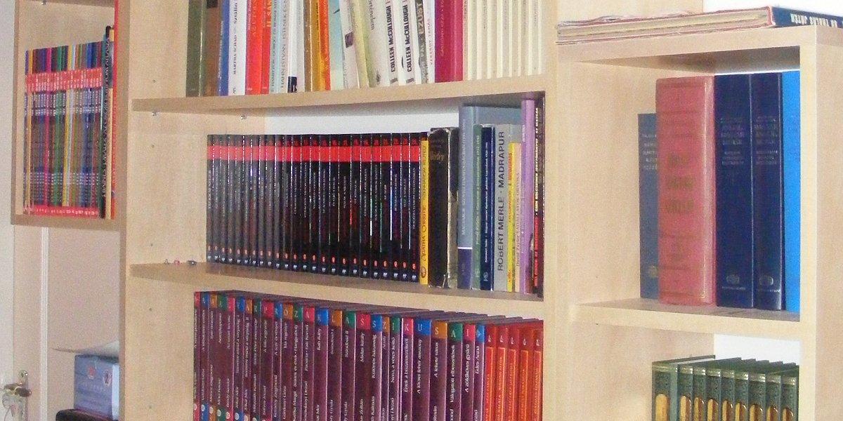 Szép könyvespolcok